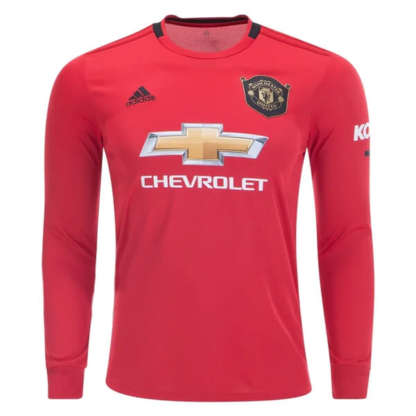 more photos 53ae2 d12d2 Manchester United Home Long Sleeve Football Shirt 19/20