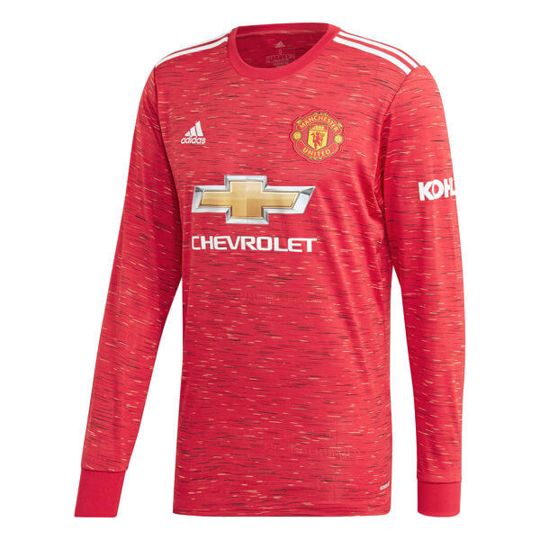 Manchester United Home Long Sleeve Football Shirt 2021