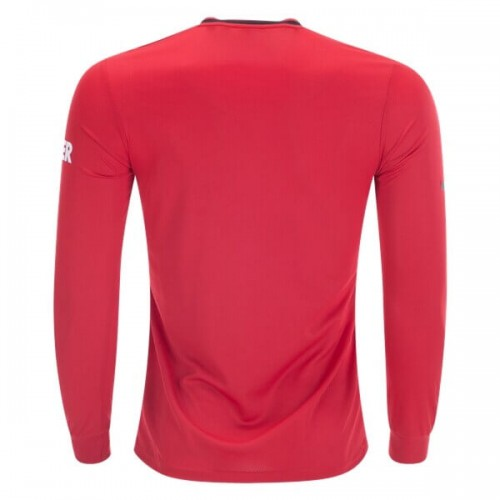 Manchester United Home Long Sleeve Soccer Jersey 19 20