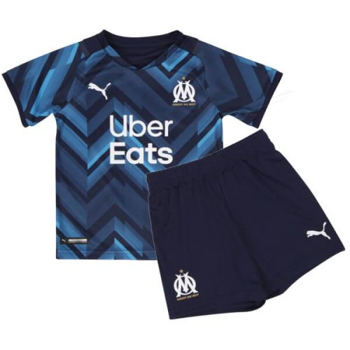 Olympique Marseille Away Kids Football Kit 21 22