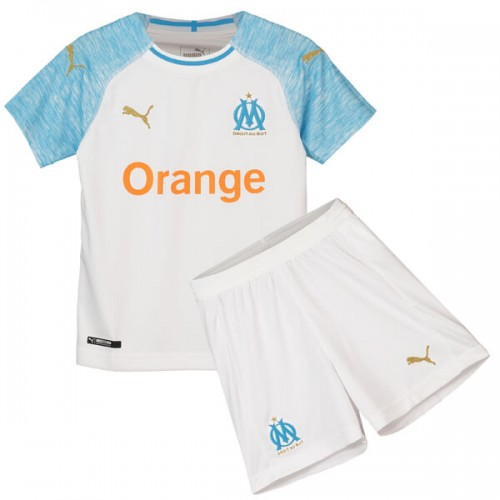 Olympique Marseille Home Kids Football Kit 1819