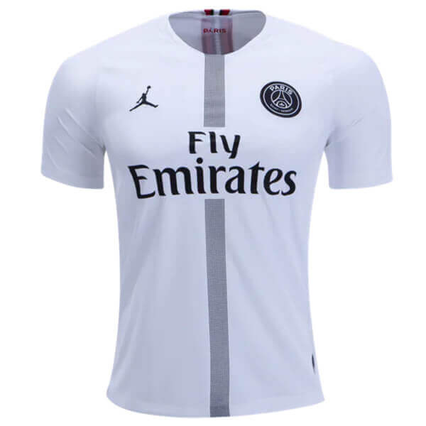 finest selection 1487e aae1c Paris Saint-Germain 3rd Jordan Football Shirt 18/19 - White