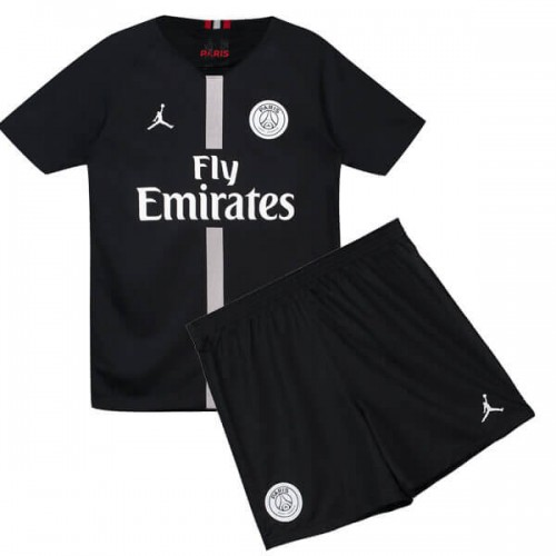 PSG 3rd Jordan Kids Football Kit 18 19 - Black