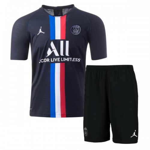 PSG Fourth Jordan Kids Football Kit 19 20