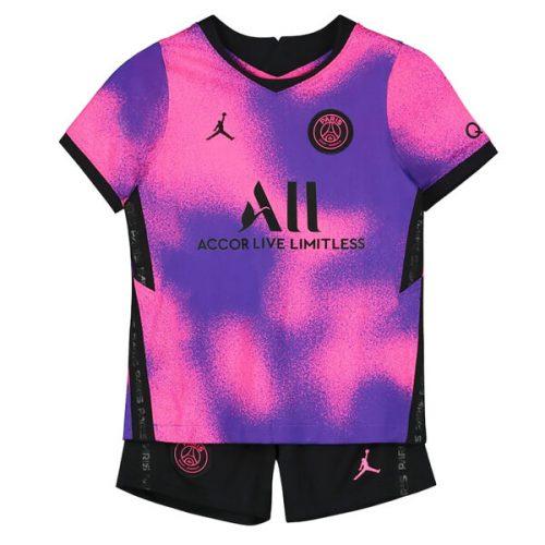 PSG Fourth Jordan Kids Football Kit 2021