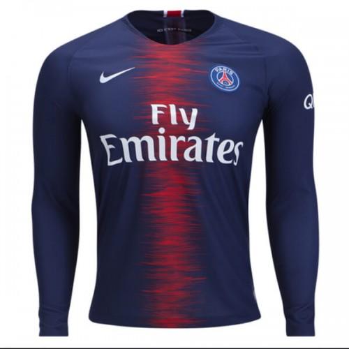 PSG Home Long Sleeve Football Shirt 1819