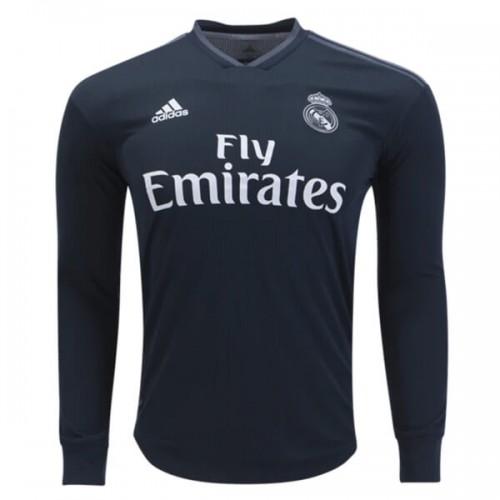 Real Madrid Away Long Sleeve Football Shirt 18 19