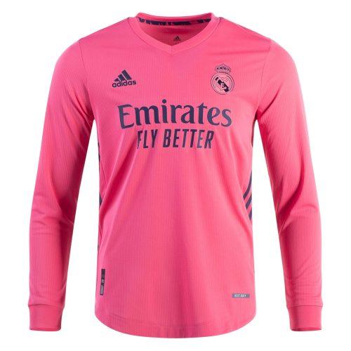 Real Madrid Away Long Sleeve Football Shirt 20 21