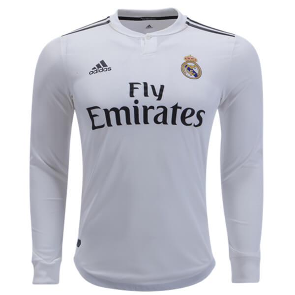 5a6e905b4 Real Madrid Home Long Sleeve Football Shirt 18 19 - SoccerLord