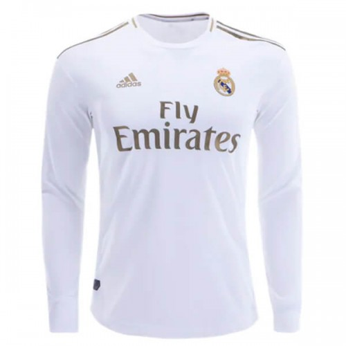 Real Madrid Home Long Sleeve Football Shirt 19 20