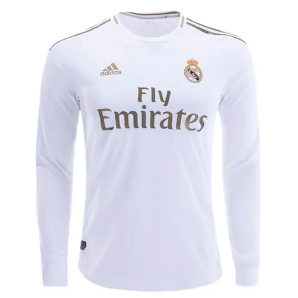 outlet store 6a444 36d74 Real Madrid Home Long Sleeve Football Shirt 19/20