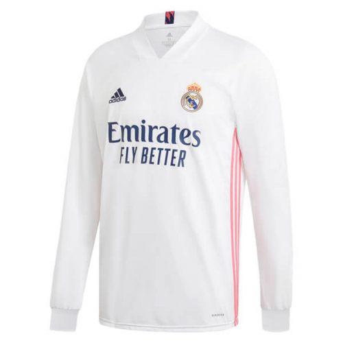 Real Madrid Home Long Sleeve Football Shirt 20 21