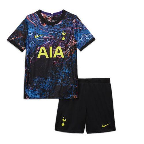 Tottenham Away Kids Football Kit 21 22