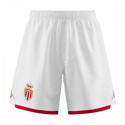 AS Monaco Home Soccer Shorts 19 20