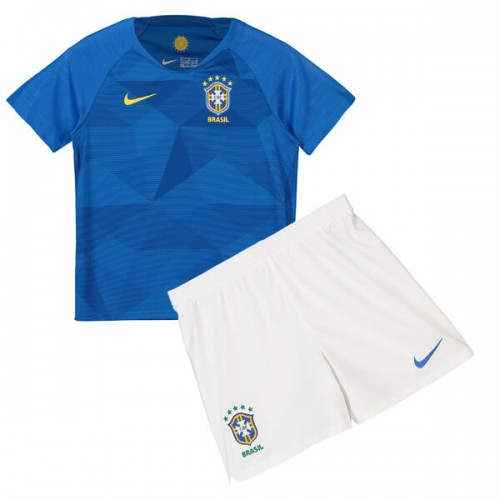 Brazil Away Kids Football Kit 2018