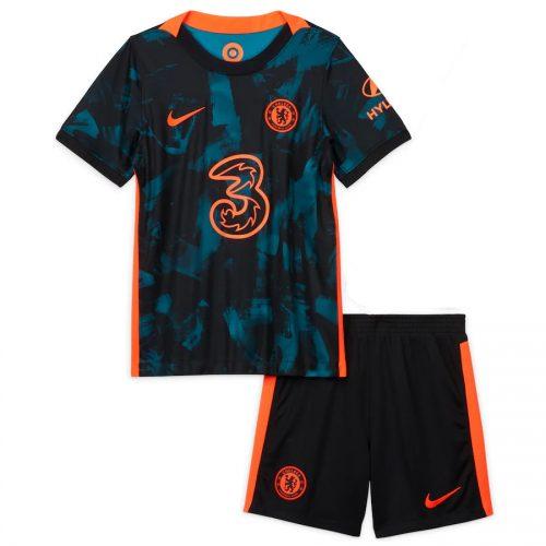 Chelsea Third Kids Football Kit 21 22