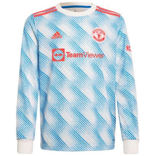 Manchester United Away Long Sleeve Football Shirt 21 22