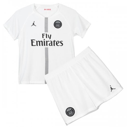 PSG 3rd Jordan Kids Football Kit 18 19 - White