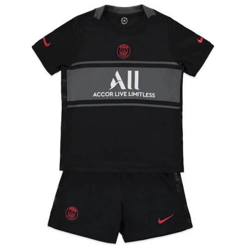 PSG Third Kids Football Kit 21 22