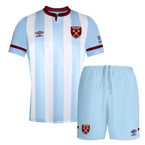 West Ham Away Kids Football Kit 21 22