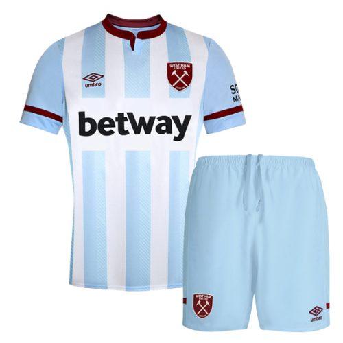 West Ham Away Kids Football Kit 2122