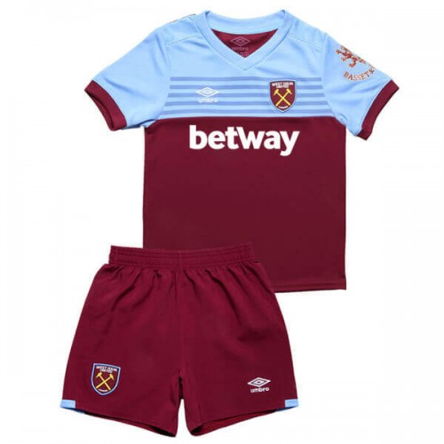 West Ham Home Kids Football Kit 19 20