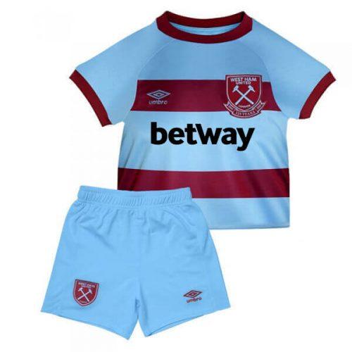 West Ham United Away Kids Football Kit 20 21