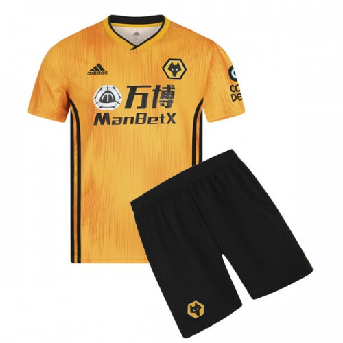 Wolverhampton Wanderers Home Kids Football Kit 19/20