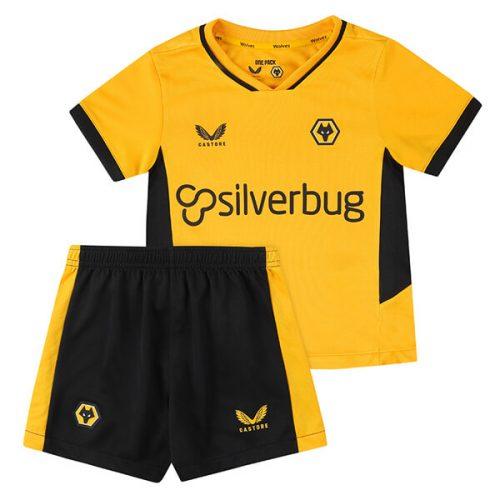 Wolverhampton Wanderers Home Kids Football Kit 21 22