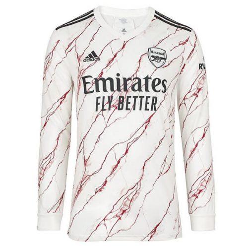 Arsenal Away Long Sleeve Football Shirt 20 21