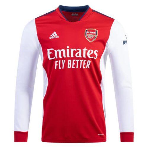 Arsenal Home Long Sleeve Football Shirt 21 22