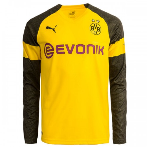 Borussia Dortmund Home Long Sleeve Football Shirt 1819