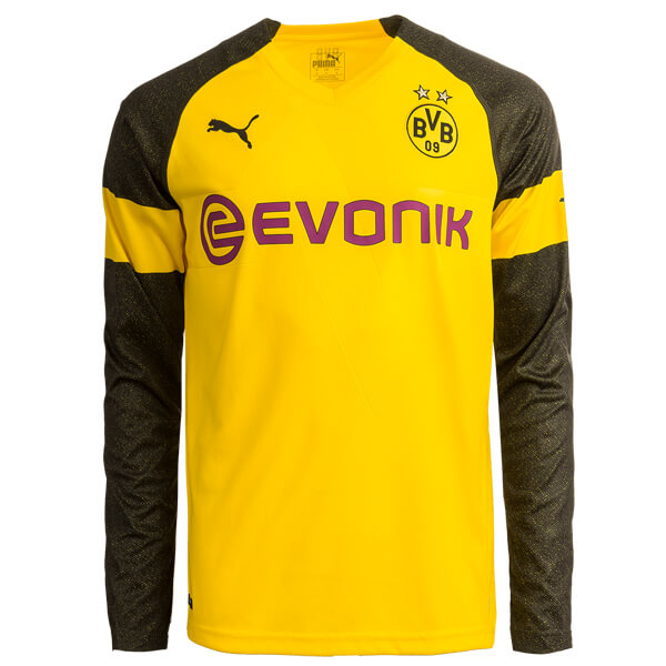 new product 622df 675bc Borussia Dortmund Home Long Sleeve Football Shirt 18/19