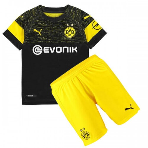 Dortmund Away Kids Football Kit 18 19