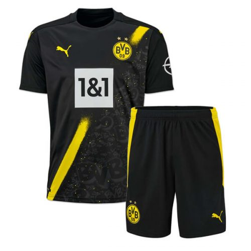 Dortmund Away Kids Football Kit 20 21