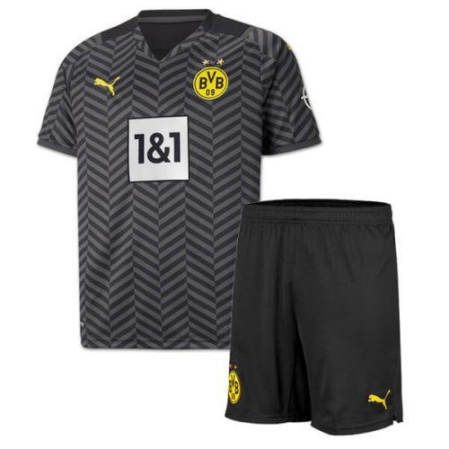 Dortmund Away Kids Football Kit 21 22