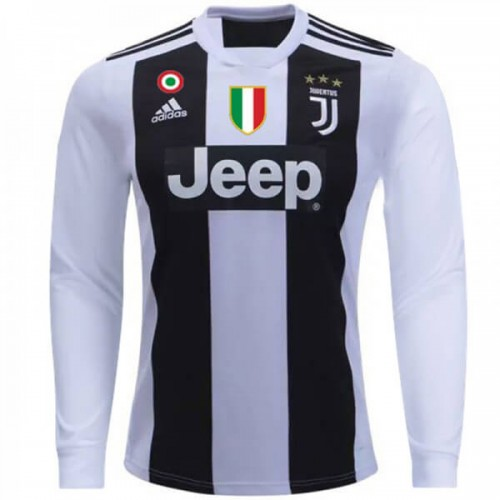 Juventus Home Long Sleeve Football Shirt 1819