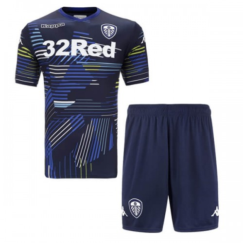 Leeds United Away Kids Football Kit 18 19