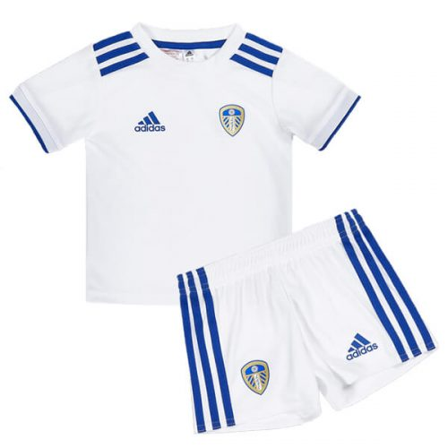 Leeds United Home Kids Football Kit 20 21