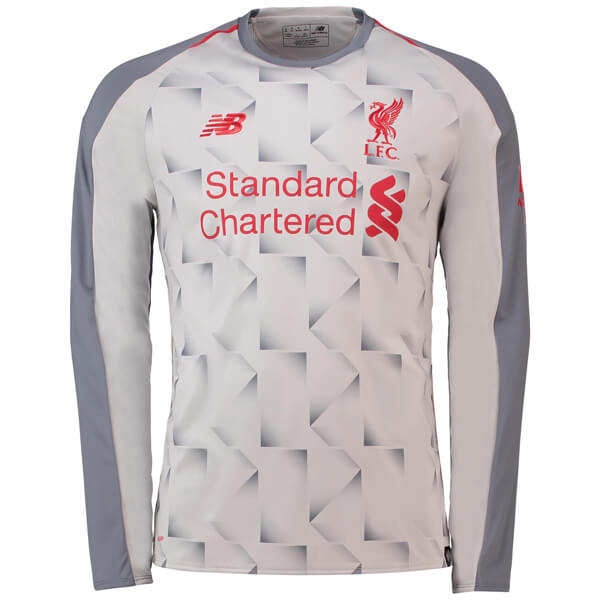 detailed look 834ae a3168 liverpool white long sleeve jersey
