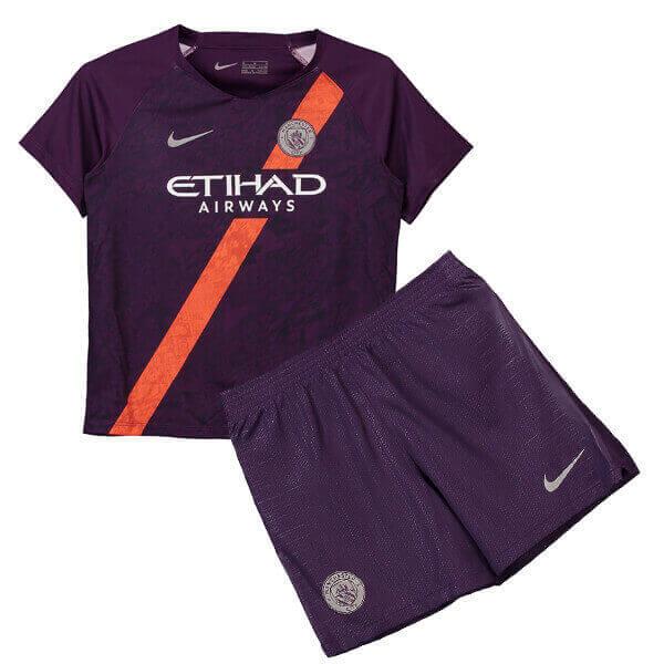 2281a4497e4 Manchester City 3rd Kids Football Kit 18/19 - SoccerLord