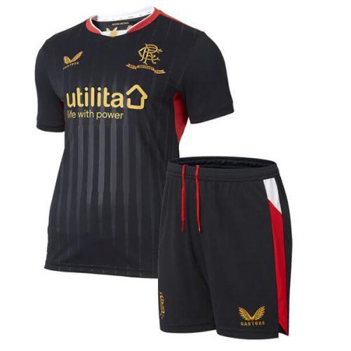 Rangers Away Kids Football Kit 21 22