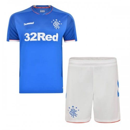 Rangers Home Kids Football Kit 18 19