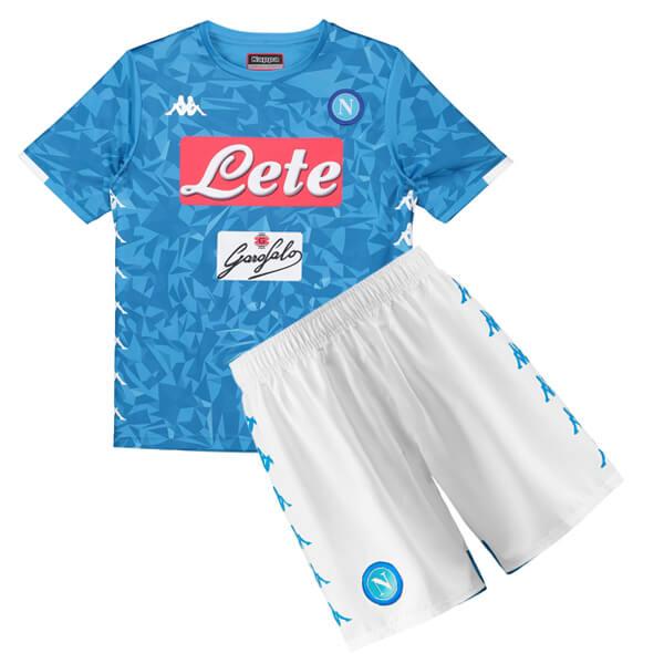 12e2a72e46b Napoli Home Kids Football Kit 18/19 - SoccerLord