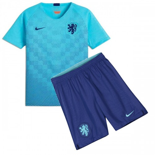 Netherlands Away Kids Football Kit 2018