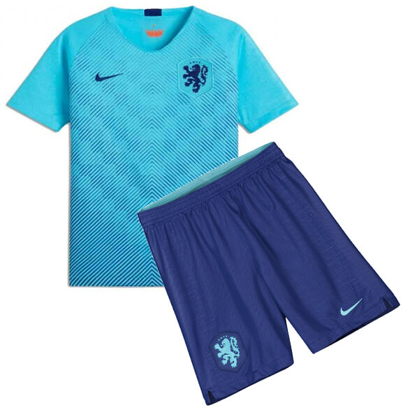 low priced fce26 49c53 Netherlands 2018 Away Kids Football Kit