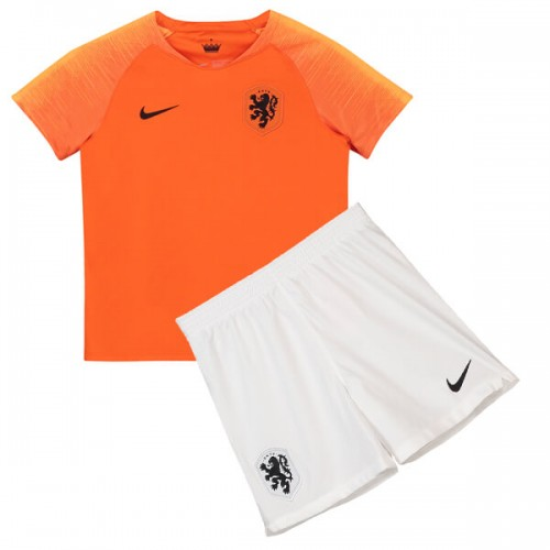 Netherlands Home Kids Football Kit 2018
