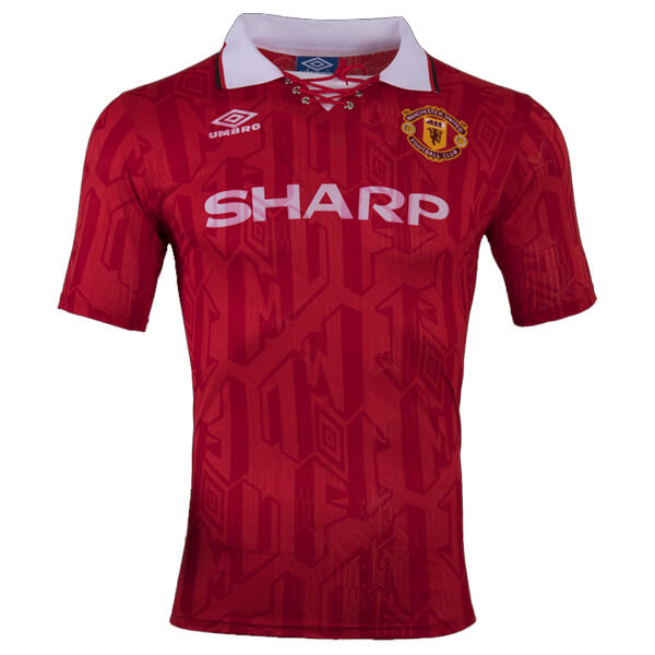 ad16de85a Retro Manchester United Home Football Shirt 92 94 - SoccerLord