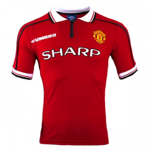 Retro Manchester United Home Football Shirt 98 99