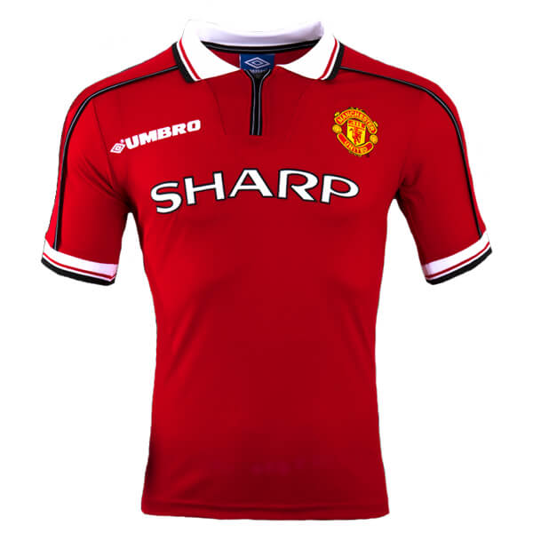 9ac40d940d3 Retro Manchester United Home Football Shirt 98 99 - SoccerLord